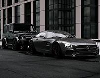 Mercedes G63/ Mercedes GT |full cgi|