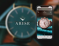 Website design UI/UX - Arise watches company