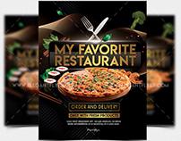 My Favorite Restaurant – Free PSD Flyer Template