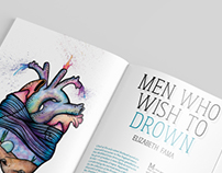 Men Who Wish To Drown - Editorial Illustration