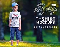 Boy T-Shirt Mock-Up Set 2
