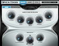 Epica Bass Kontakt Library VST plugin Gui Design