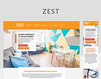 Zest website responsive redesign