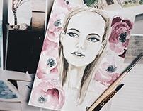 """Watercolor """"Her"""""""