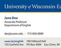 UW-Eau Claire Business Card Template Design