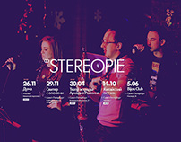 Stereopie funk band landing | Web