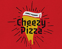 Hand Draw Pizza Logo Badges