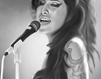 Amy Winehouse Digital Art by Wayne Flint