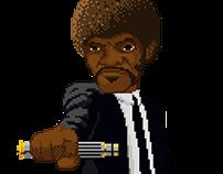 Samuel L. Jackson pixel art