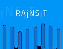 Rainsit, weather app concept