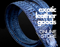 Internet-shop of leather accessories.