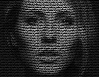 Text Portrait Effect - Art Speed Graphic Design Concept