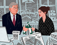 """The Intern"" movie illustrations"
