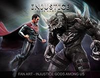 Poster-fan art-Superman vs Doomsday