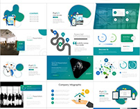 Best Blue Infographic report PowerPoint template
