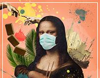 Coronalisa (Mona Lisa COVID-19 collage)
