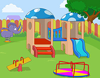 Kindergarten Game Background