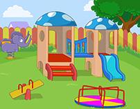 Kindergarten Game Background