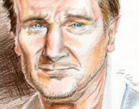 Liam Neeson Celebrity Portrait