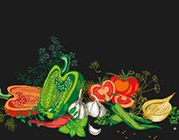 Illustrations of vegetables