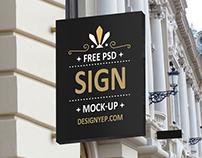 Free Shop Sign Mockup PSD