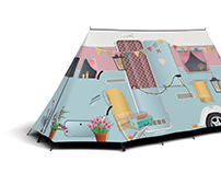 FieldCandy Shabby Chic Caravan tent