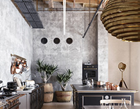 Wooden Loft Kitchen