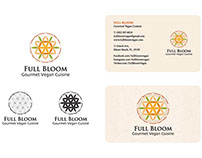 Full Bloom: Logo, Business Card & Postcard design