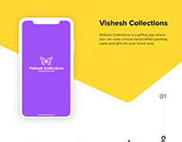 Vishesh Collections - a gifting app concept for ios