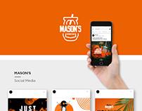 Mason's | Social media