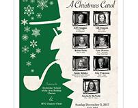 RUC Christmas Carol Poster: Print Design