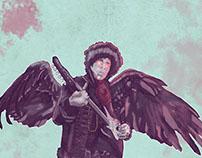 Jimi Hendrix poster ,pacto con el diablo
