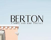 Free Berton Sans Serif Font