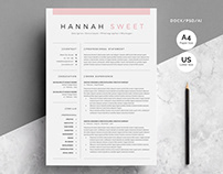Sweet CV 3-Pages in MS Word