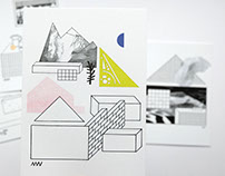 BUILDING A HOME set of postcards