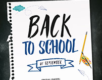 Back to School - Free PSD Flyer / Poster Template