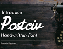 Postciv Font Script