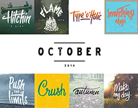 Daily Lettering | OCTOBER