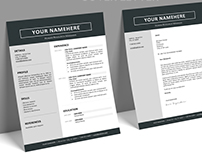 Jordaan - FREE Resume template + Cover Letter