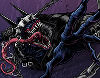 Venomized Batman who laughs