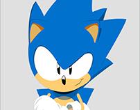 Sonic em vetor