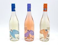 YOUNG LILIAC wine labels