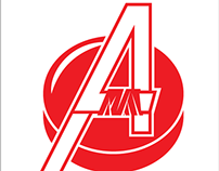 Avengers Hockey Team Logo