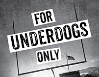 """For Underdogs Only"" Book Cover Design"
