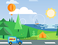 Motion graphic animation for product explainer.