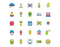 Korea Icons Set