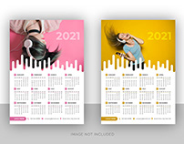 Business wall calendar design for music company