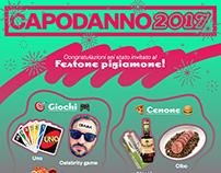 CAPODANNO 2017 - Festone pigiamone