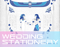 Egyptian Themed Wedding Stationery