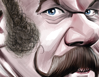 John C Reilly Caricature